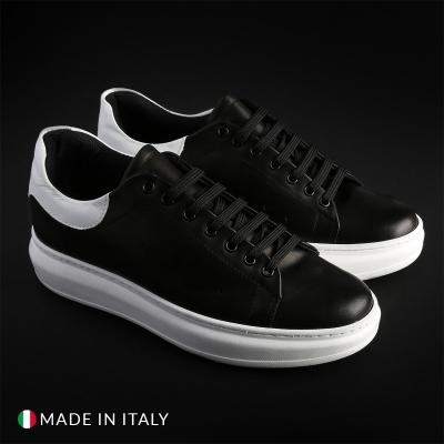 Pantofi sport Guido Bassi 4_PELLE Negru
