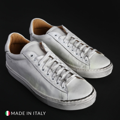 Pantofi sport Madrid F725D_PELLE Alb