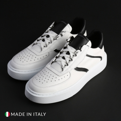 Pantofi sport R21 BOSCO_PELLE Alb