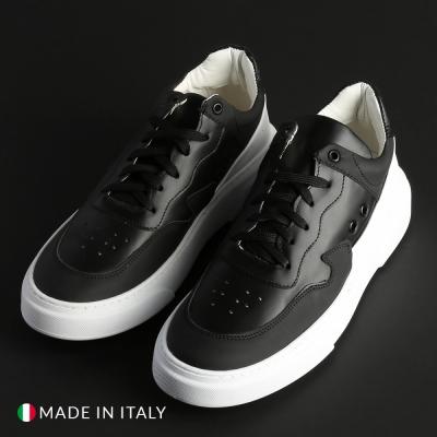 Pantofi sport R21 REY_2_GOM-NAPPA Negru