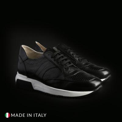 Pantofi sport Duca Di Morrone 405D_PELLE Negru