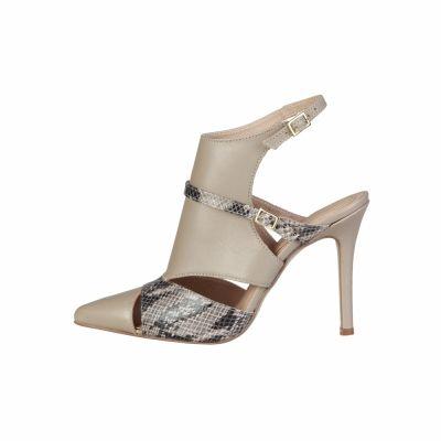 Pantofi cu toc Pierre Cardin LAETITIA Maro