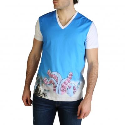 Tricouri Armani Exchange 6ZZTGB_ZJX5Z Albastru