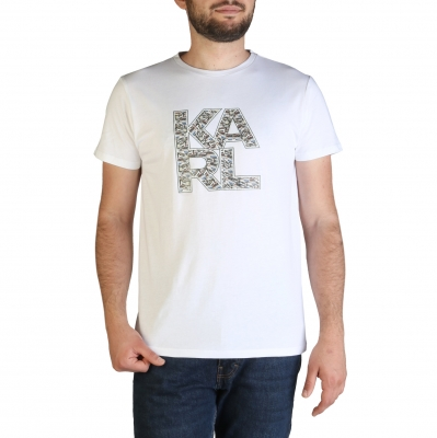 Tricouri Karl Lagerfeld KL21MTS01 Alb