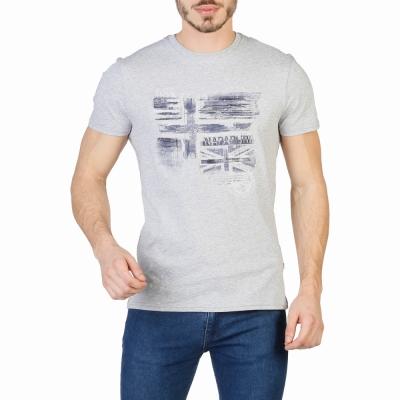 Tricouri Napapijri N0YHCX Gri