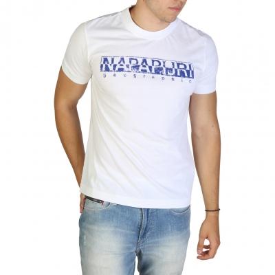 Tricouri Napapijri SOLANOS_NP0A4E39 Alb