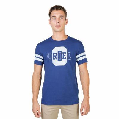 Tricouri Oxford University ORIEL-STRIPED-MM Albastru