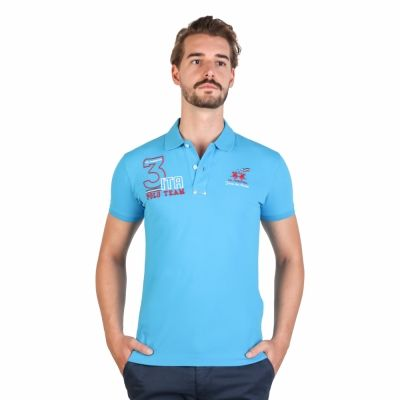 Tricouri polo La Martina FMP326PK01 Albastru