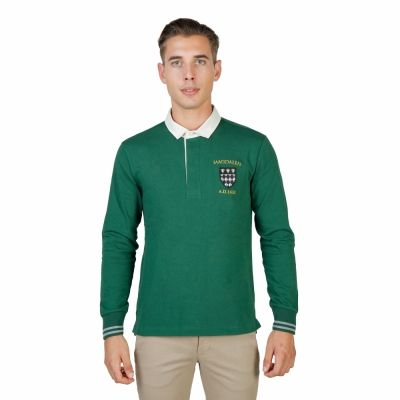 Tricouri polo Oxford University MAGDALEN-POLO-ML Verde