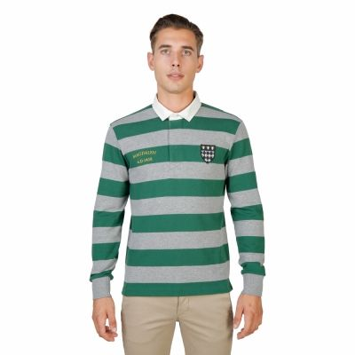 Tricou polo Oxford University MAGDALEN-RUGBY-ML Verde