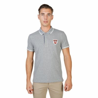 Tricou polo Oxford University QUEENS-POLO-MM Gri