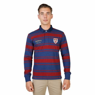 Tricou polo Oxford University QUEENS-RUGBY-ML Rosu