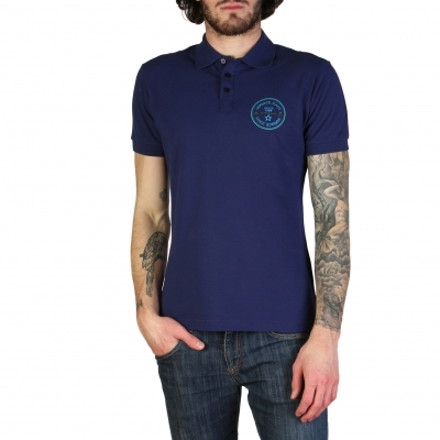 Tricouri polo Versace Jeans B3GTB7P3_36571 Albastru