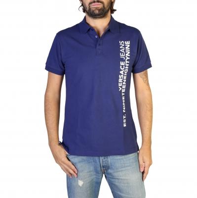 Tricouri polo Versace Jeans B3GTB7P6_36571 Albastru