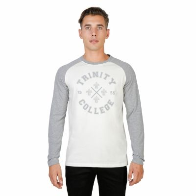 Tricouri Oxford University TRINITY-RAGLAN-ML Gri