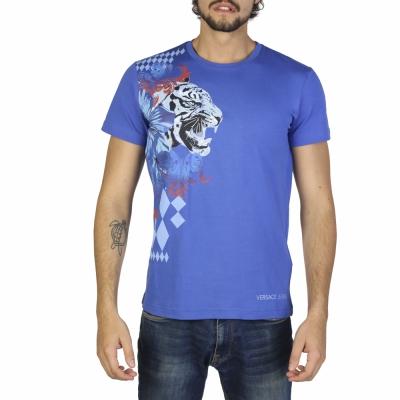 Tricouri Versace Jeans B3GRB71H36598 Albastru