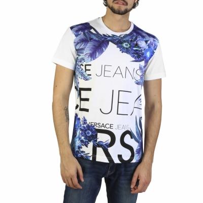 Tricouri Versace Jeans B3GRB72E36609 Alb