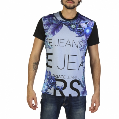 Tricouri Versace Jeans B3GRB72E36609 Negru