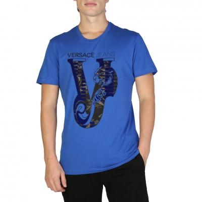 Tricouri Versace Jeans B3GSB75C_36591 Albastru