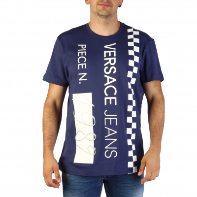 Tricouri Versace Jeans B3GTB74B_36590 Albastru