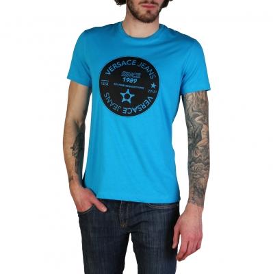 Tricouri Versace Jeans B3GTB76J_36610 Albastru