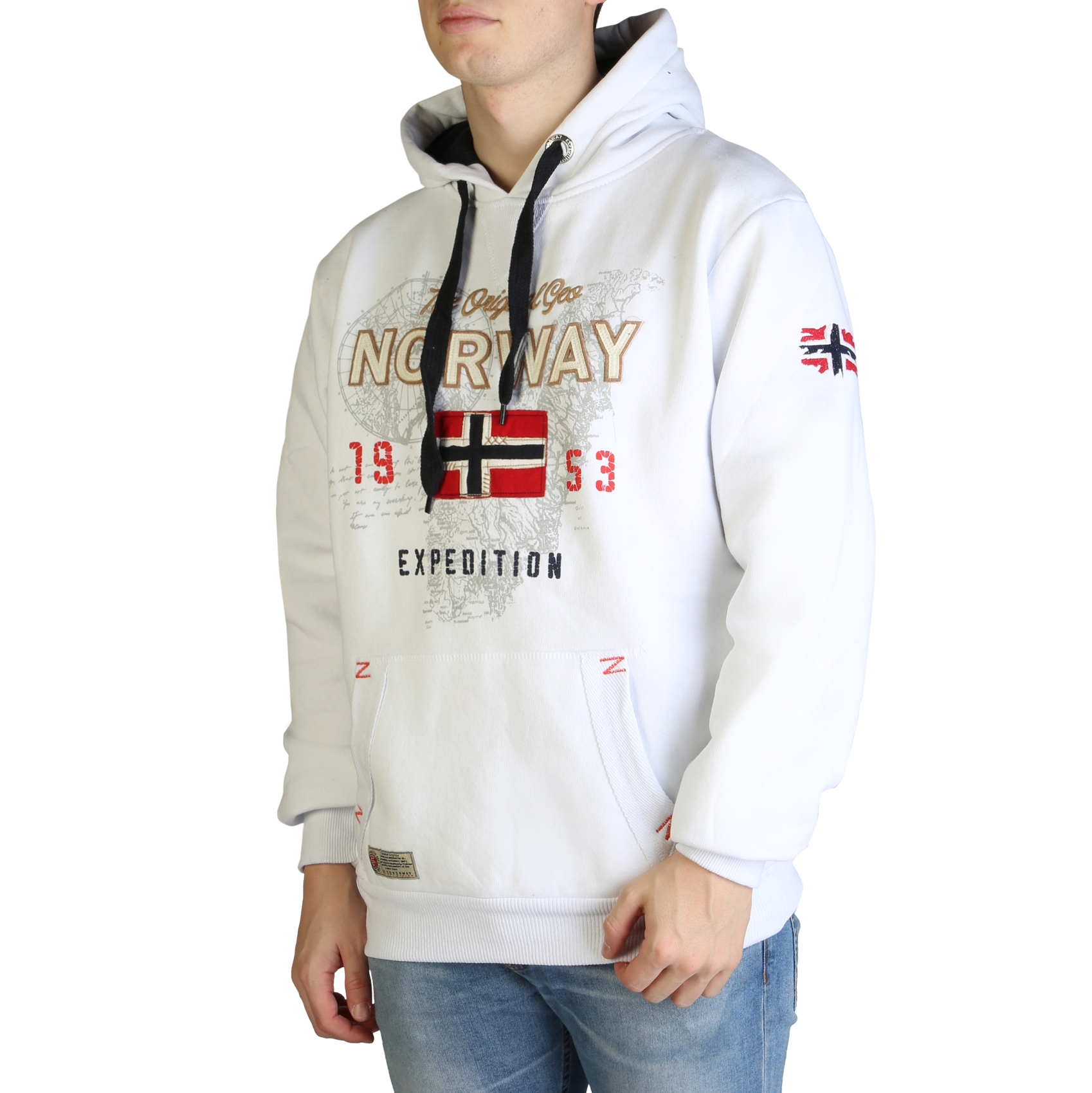 Bluze sport Geographical Norway Guitre100_man Alb