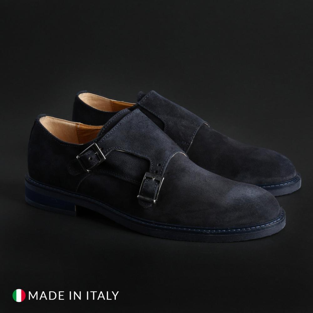 Pantofi Duca Di Morrone 600_CAMOSCIO Albastru