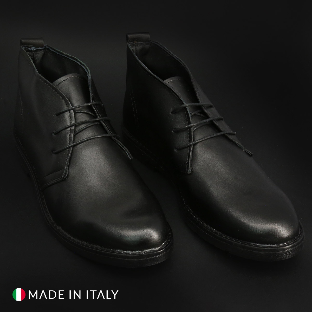 Pantofi siret Duca Di Morrone 233_PELLE Negru