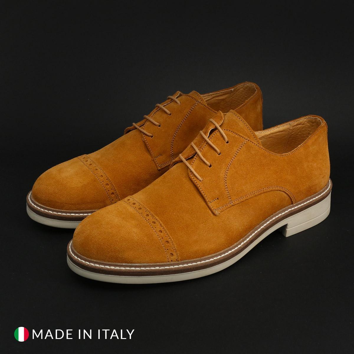 Pantofi siret Duca Di Morrone 322_CAMOSCIO Maro