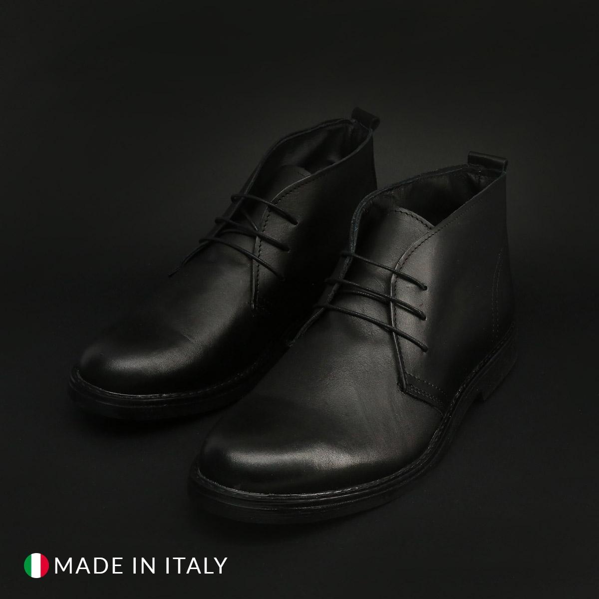 Pantofi siret Duca Di Morrone 433_PELLE Negru