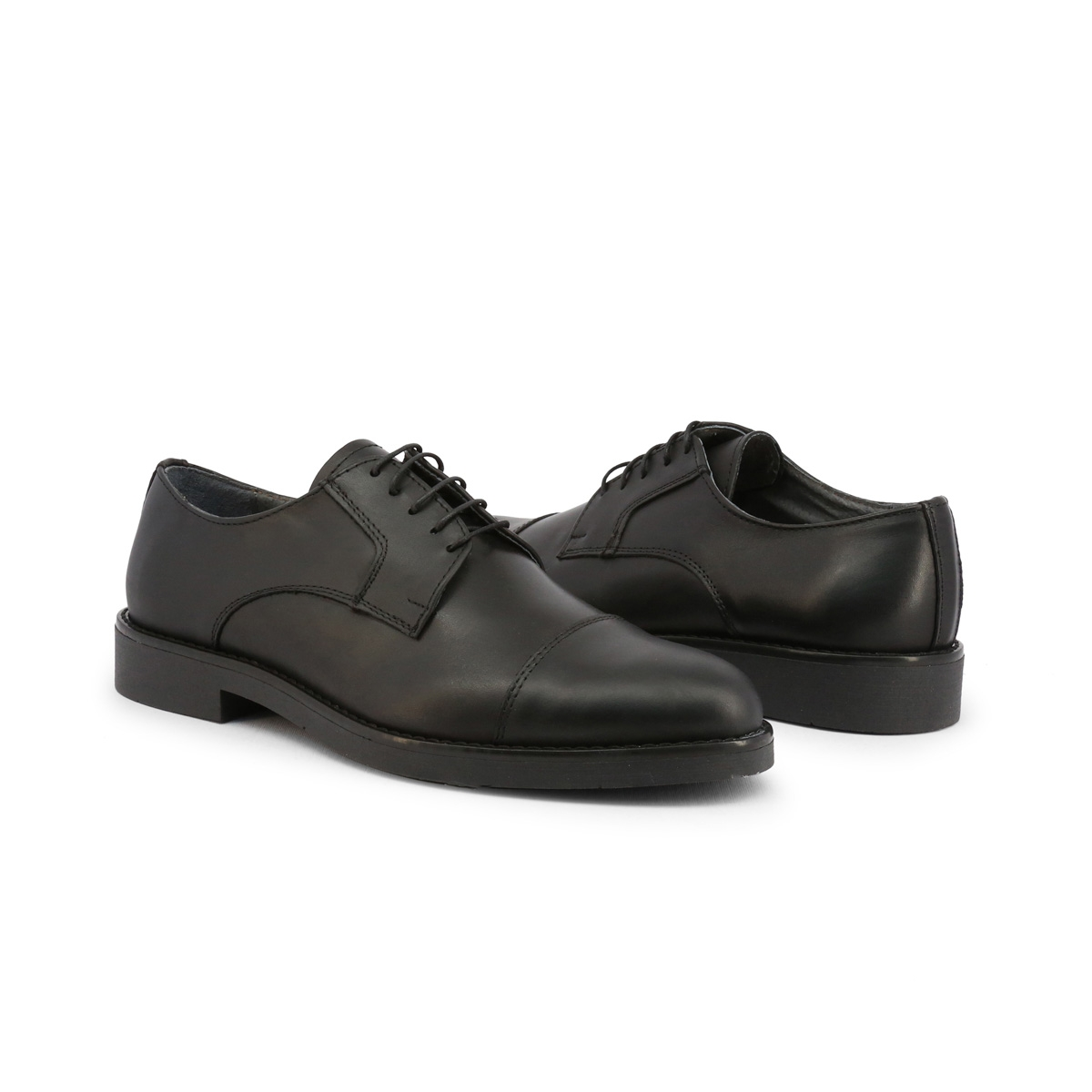 Pantofi siret Duca Di Morrone 605_PELLE Negru