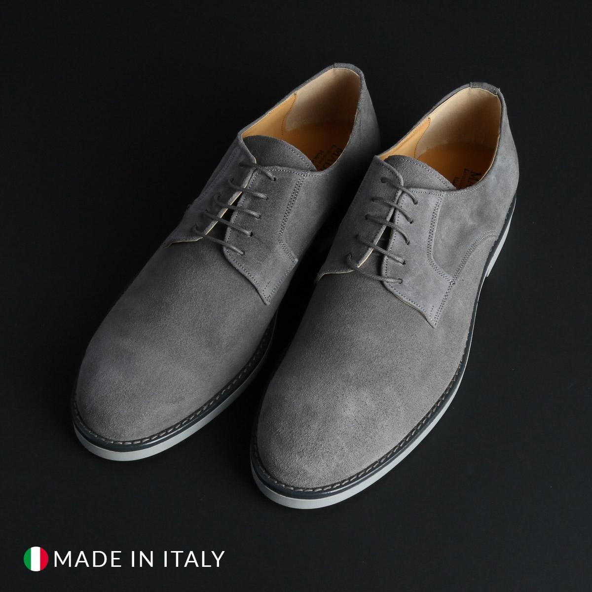 Pantofi siret Duca Di Morrone 604_CAMOSCIO Gri