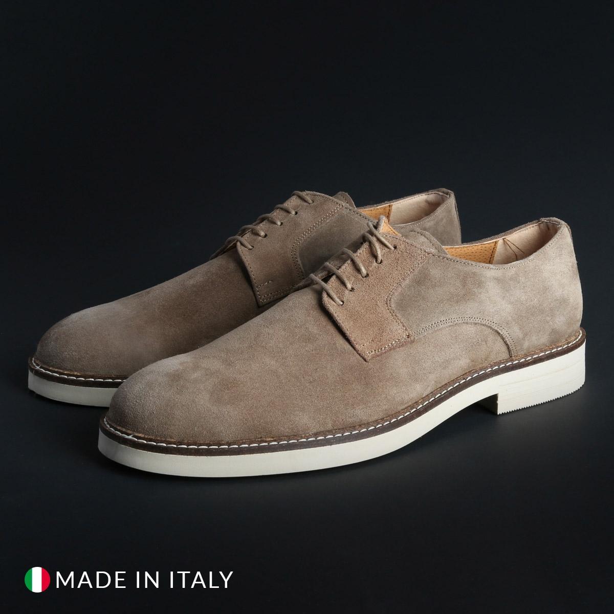 Pantofi siret Duca Di Morrone 604_CAMOSCIO Maro