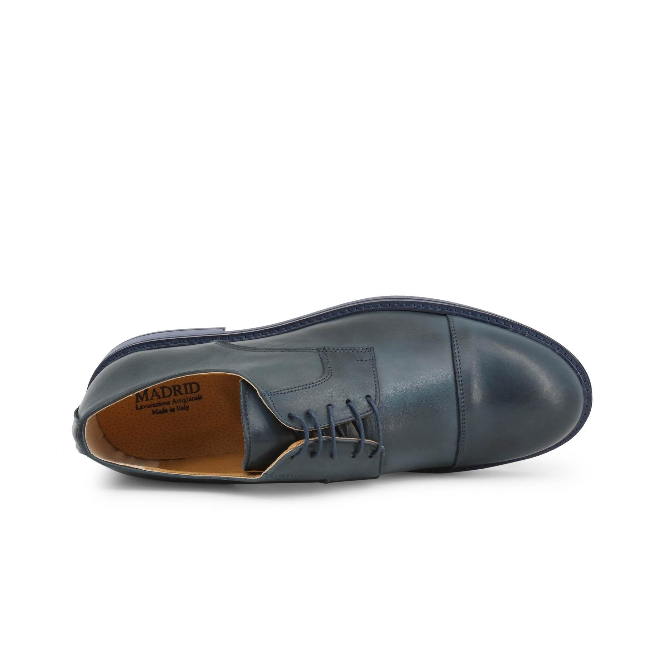 Pantofi siret Duca Di Morrone 604_CRUST Albastru