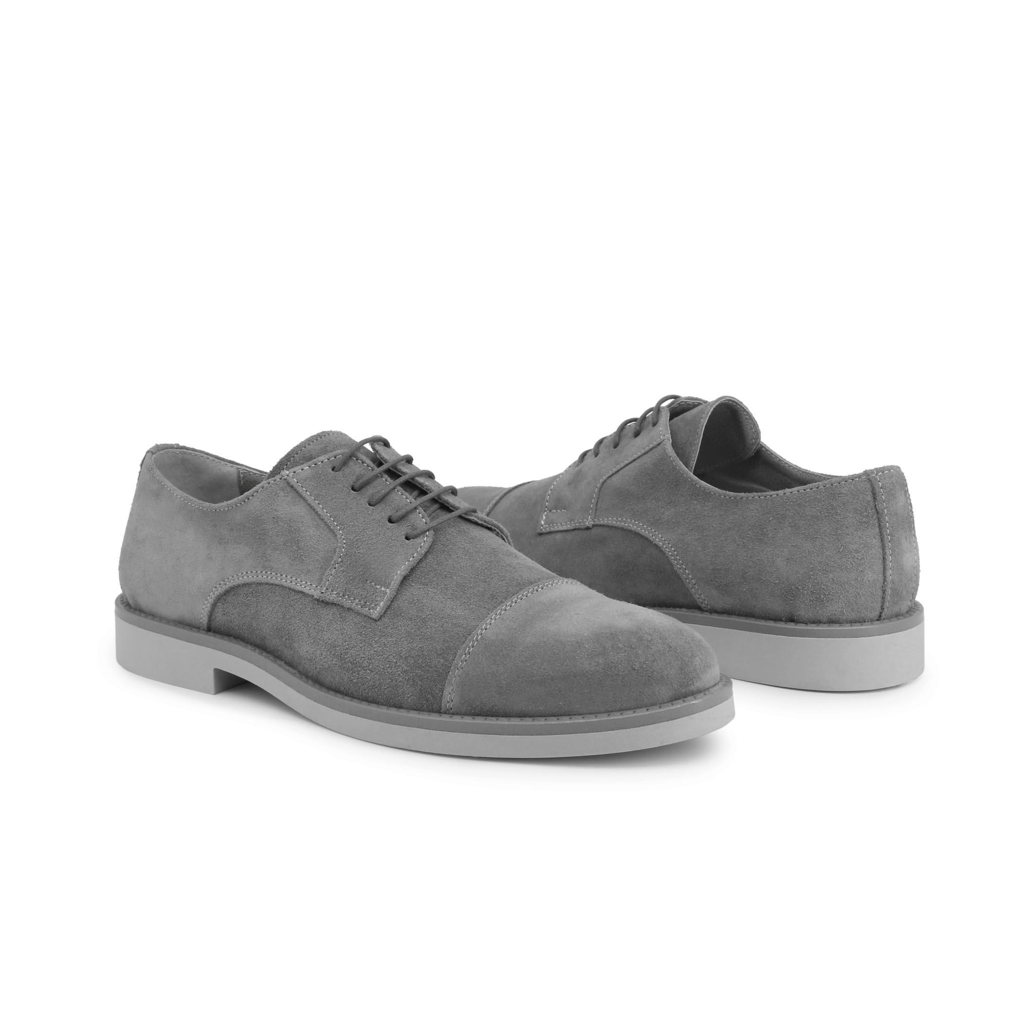 Pantofi siret Duca Di Morrone 605_CAMOSCIO Gri