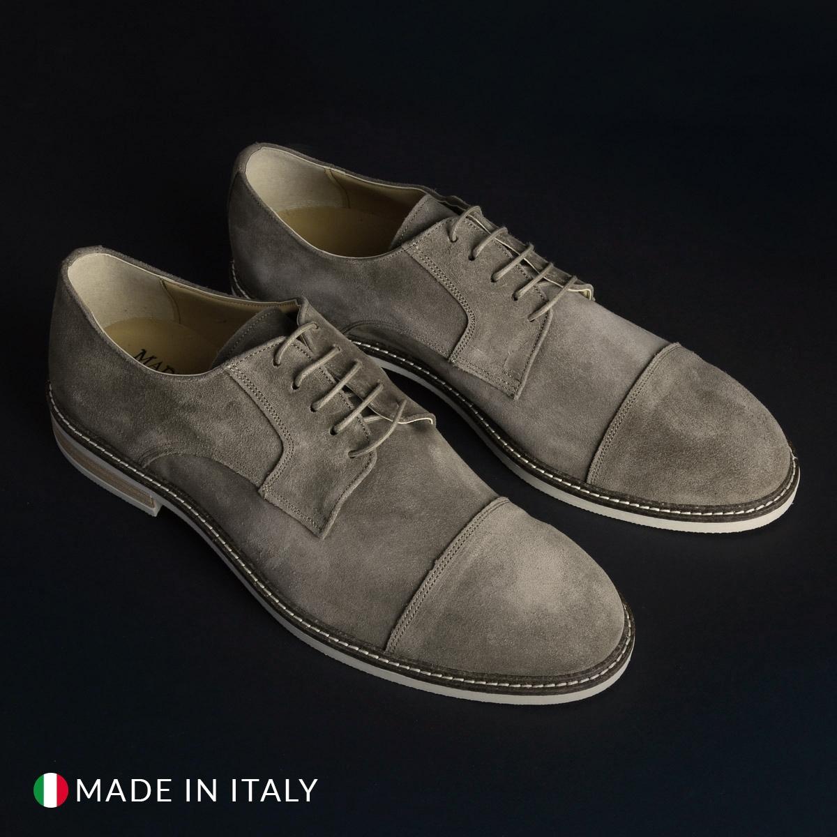 Pantofi siret Duca Di Morrone 605_CAMOSCIO Maro