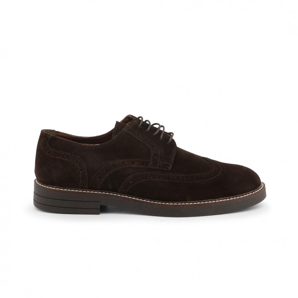 Pantofi siret Duca Di Morrone 606_CAMOSCIO Maro