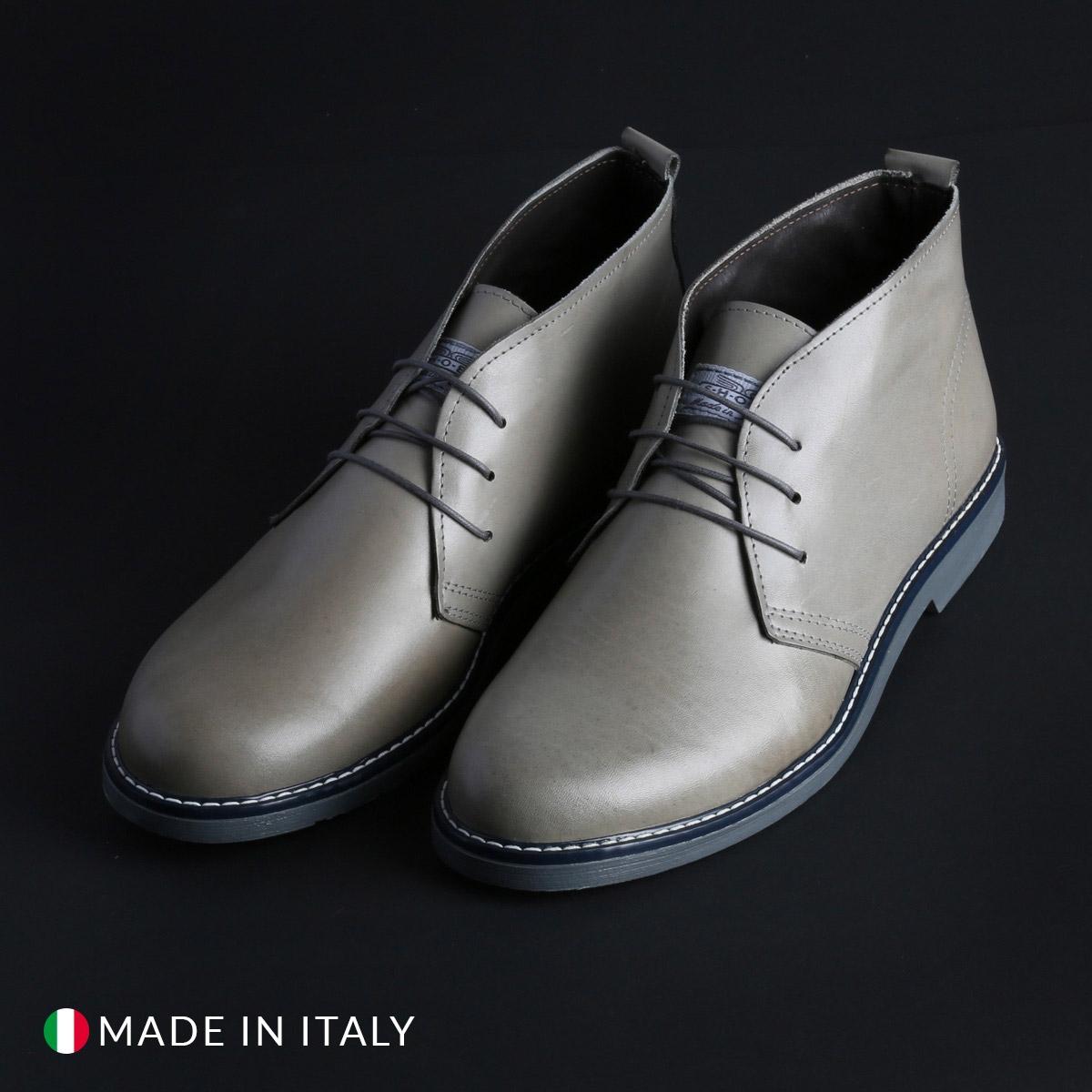 Pantofi siret Duca Di Morrone 233_CRUST Gri