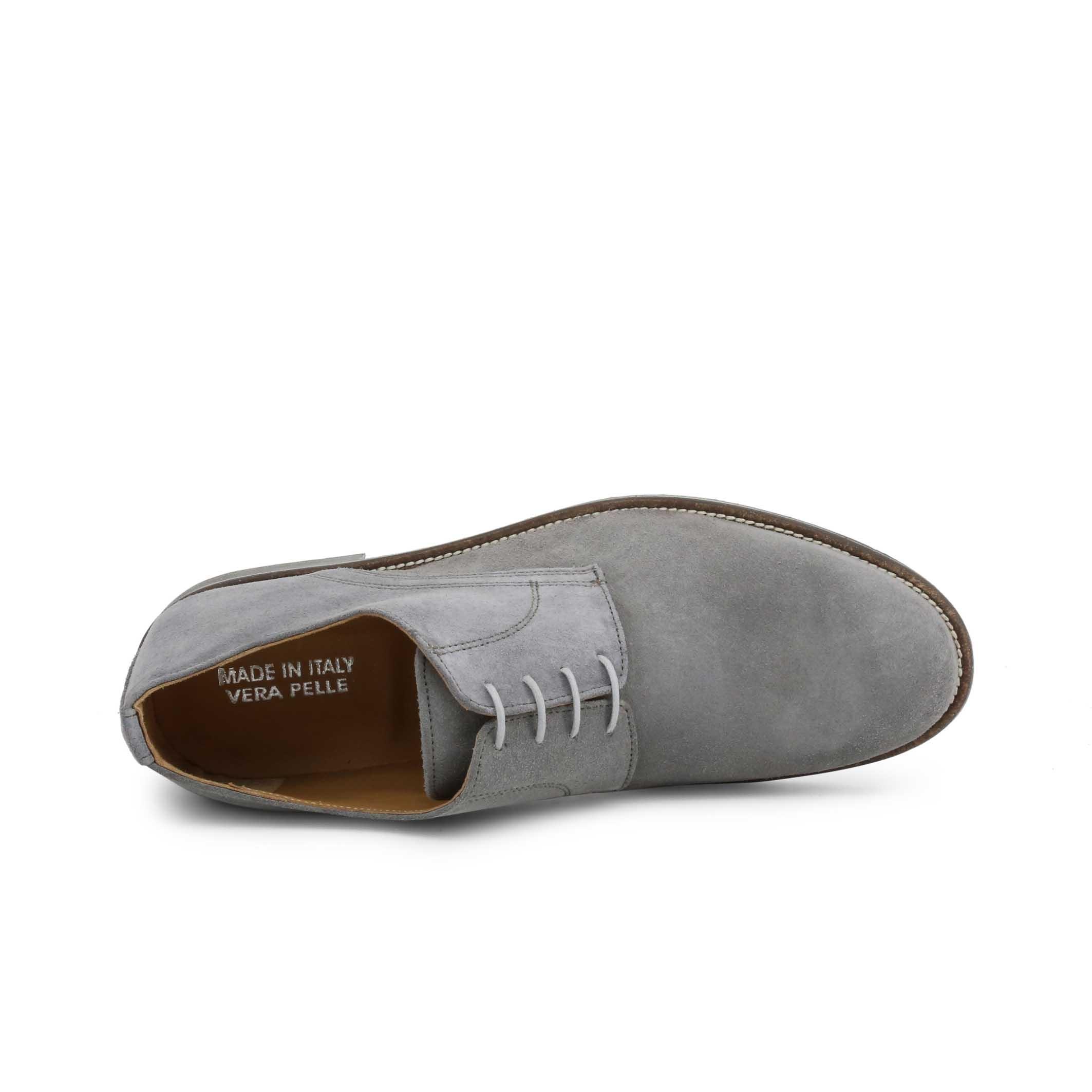 Pantofi siret Duca Di Morrone 06_CAMOSCIO Gri