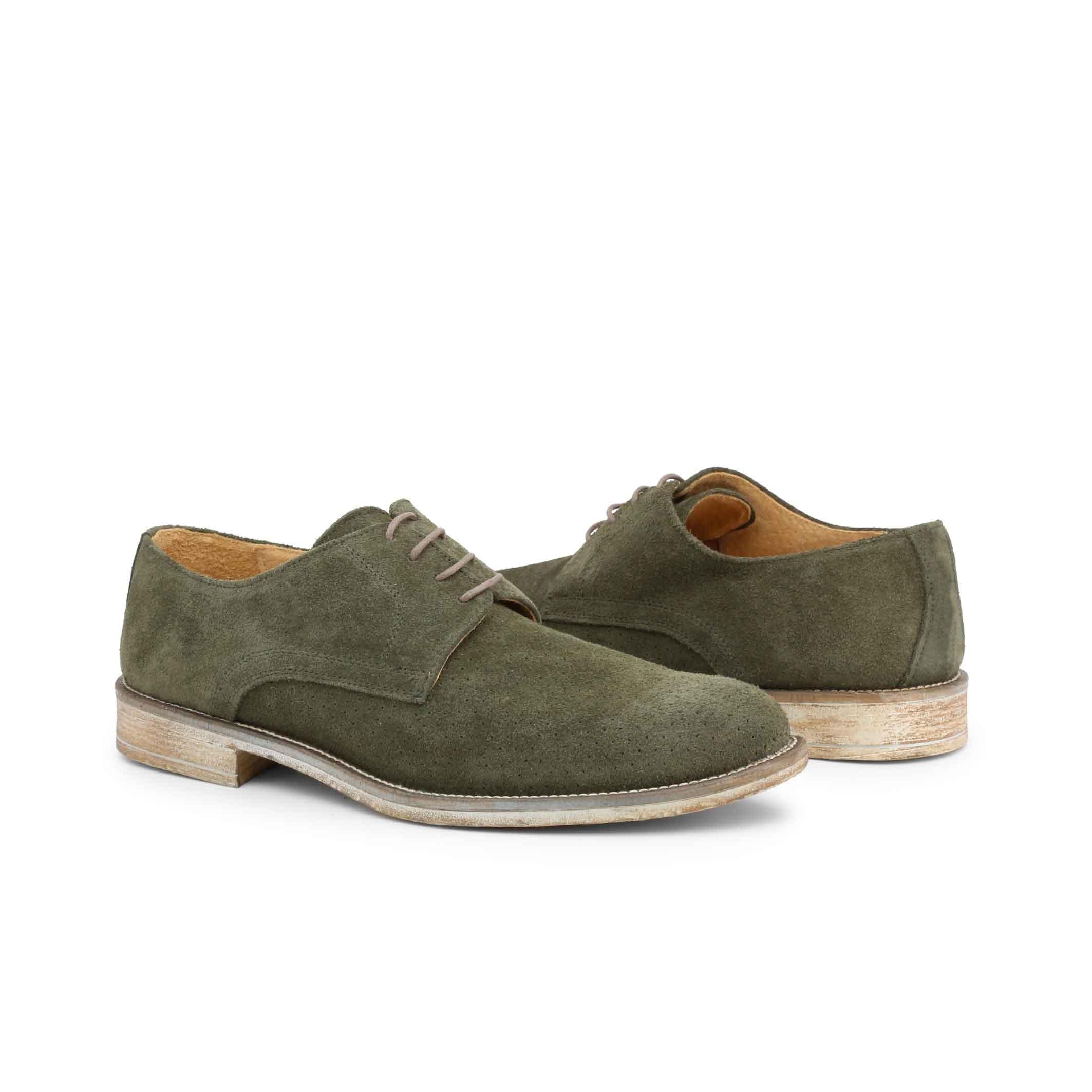 Pantofi siret Duca Di Morrone 06_CAMOSCIOBUCATO Verde