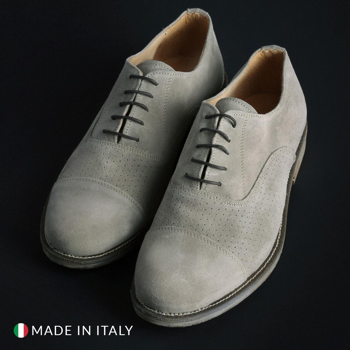 Pantofi siret Duca Di Morrone 1003_CAMOSCIOBUCATO Maro