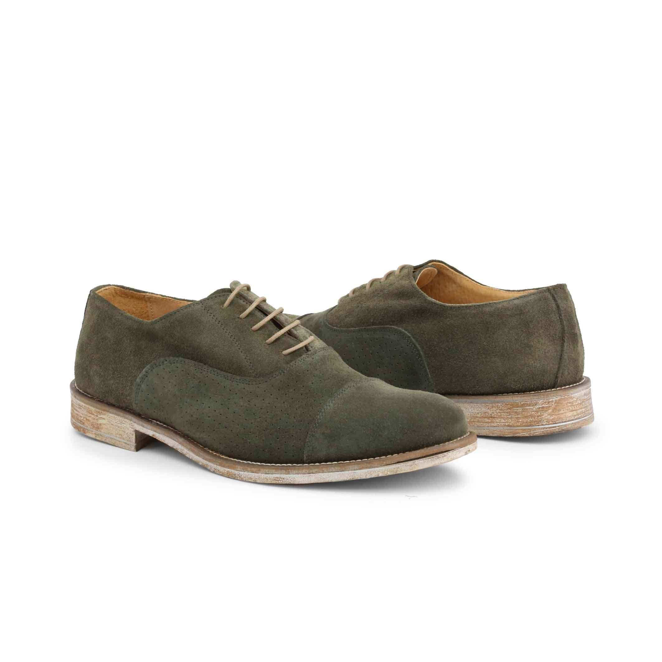 Pantofi siret Duca Di Morrone 1003_CAMOSCIOBUCATO Verde