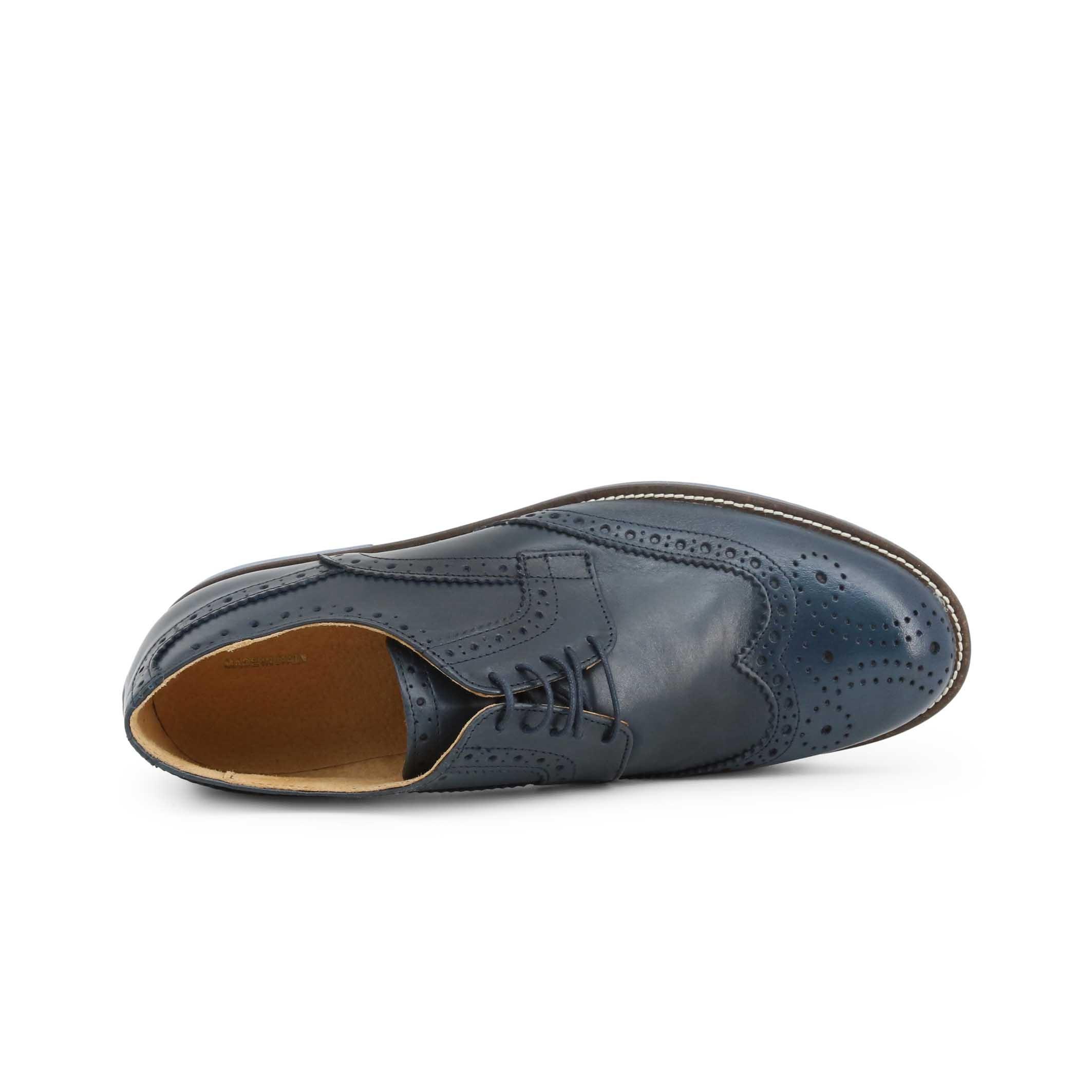Pantofi siret Duca Di Morrone S2_CRUST Albastru
