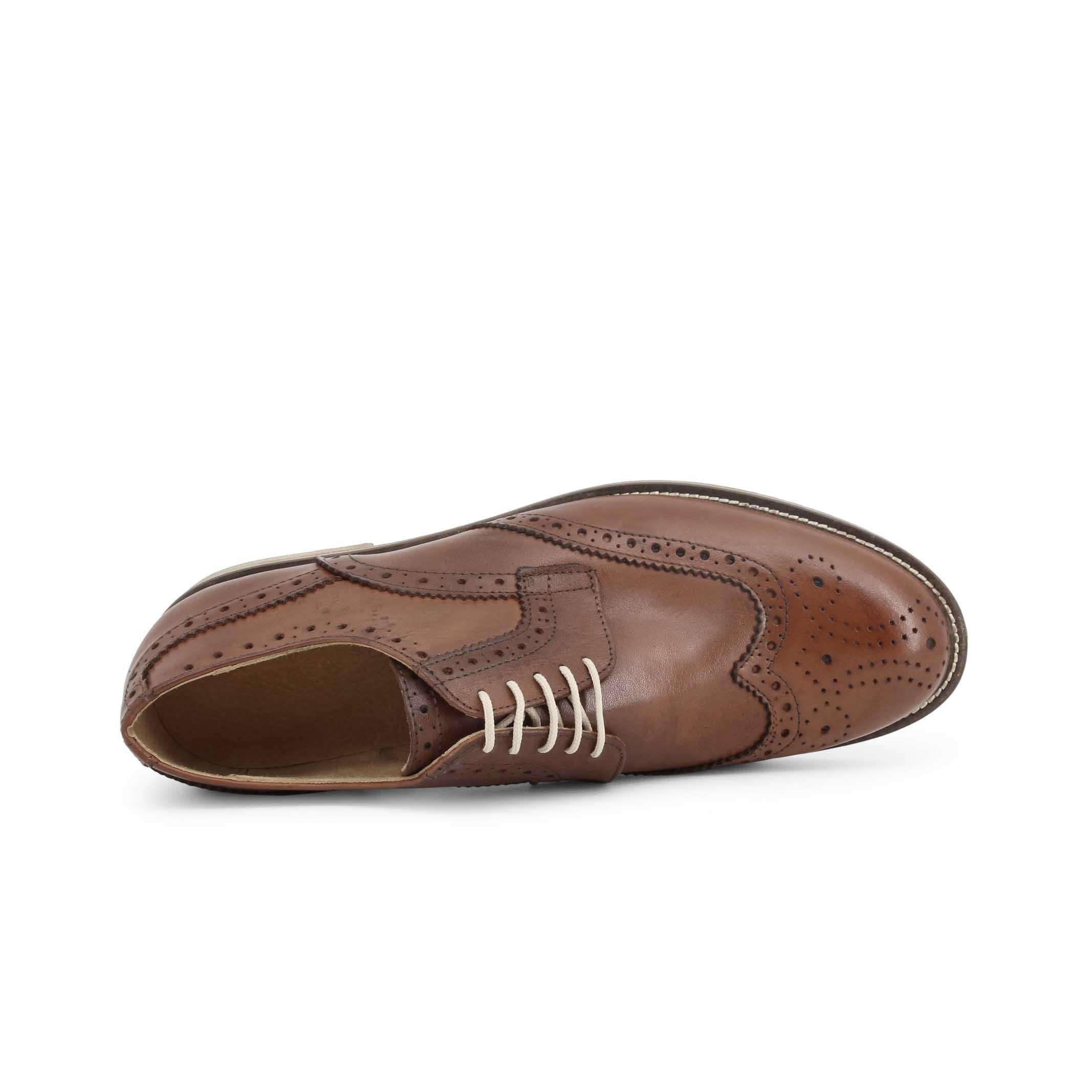 Pantofi siret Duca Di Morrone S2_CRUST Maro
