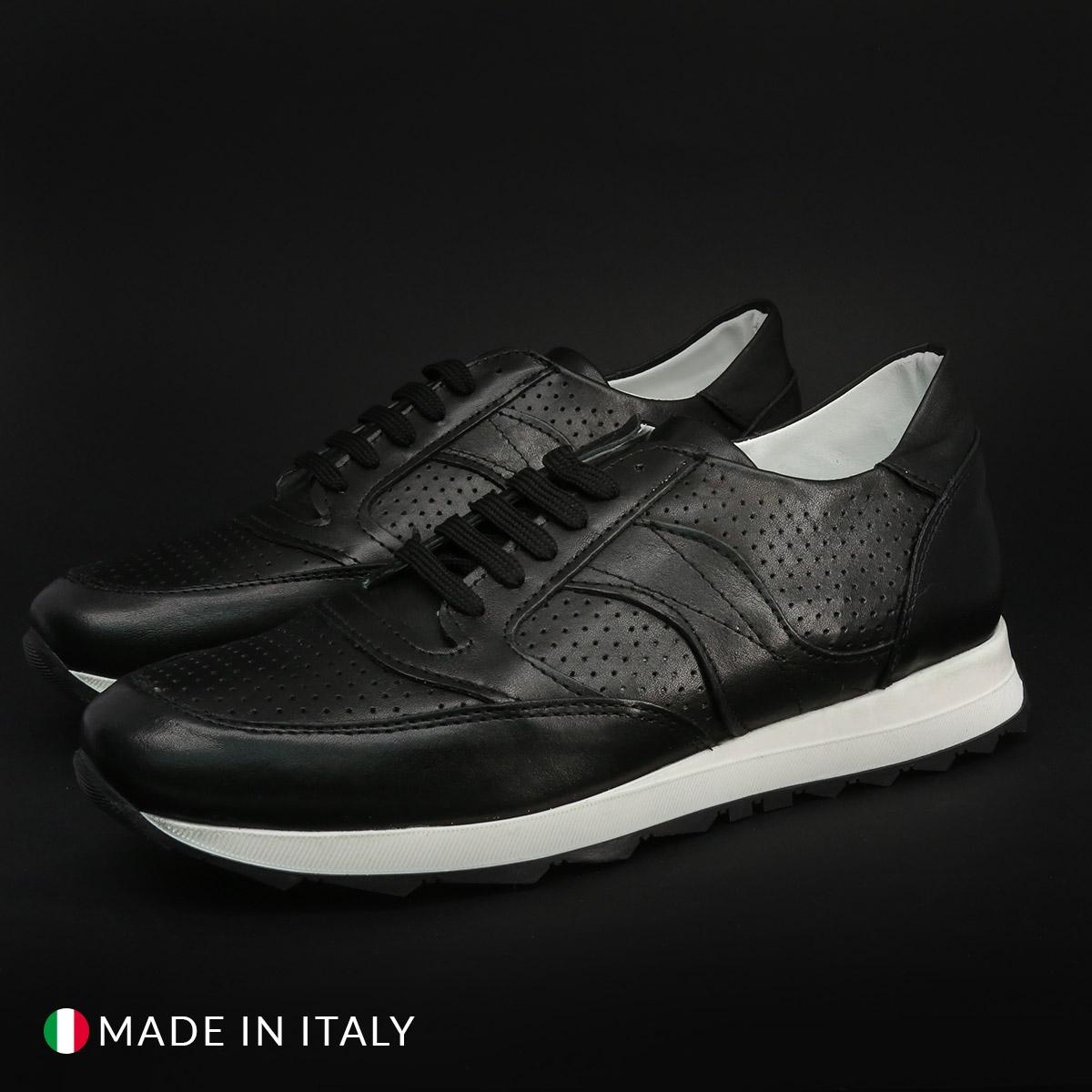 Pantofi sport Duca Di Morrone 405_MORATA_CRUST Negru