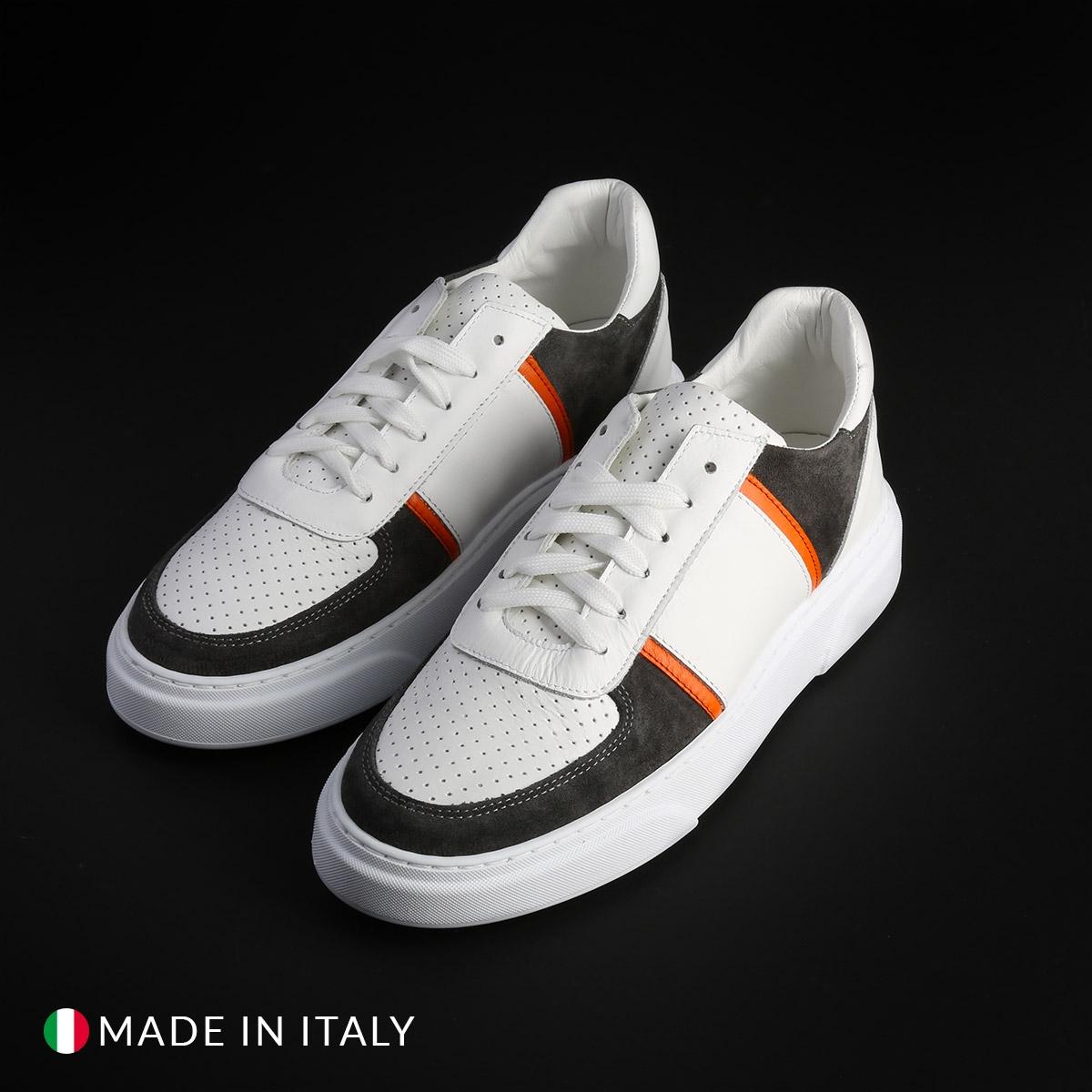 Pantofi sport Duca Di Morrone MIAMI_PELLE Alb