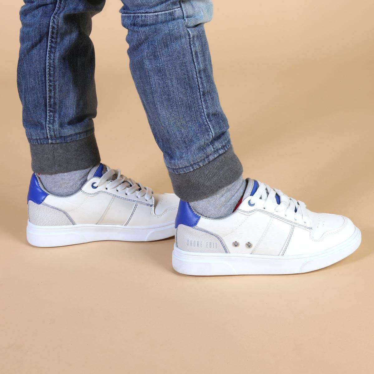 Pantofi sport Shone S8015-013 Alb
