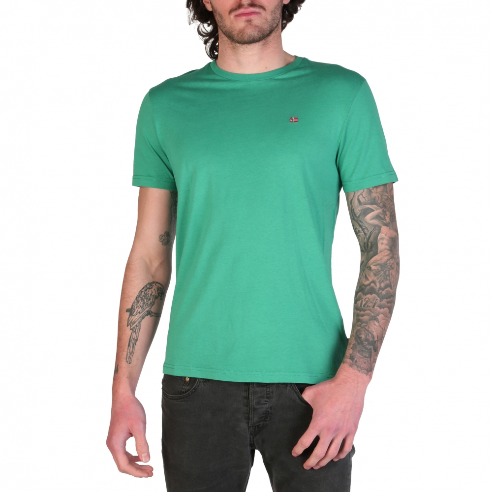 Tricouri Napapijri SELIOS_N0YJAY Verde