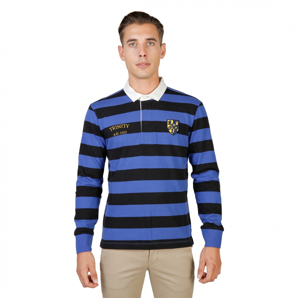 Tricouri polo Oxford University TRINITY-RUGBY-ML Negru